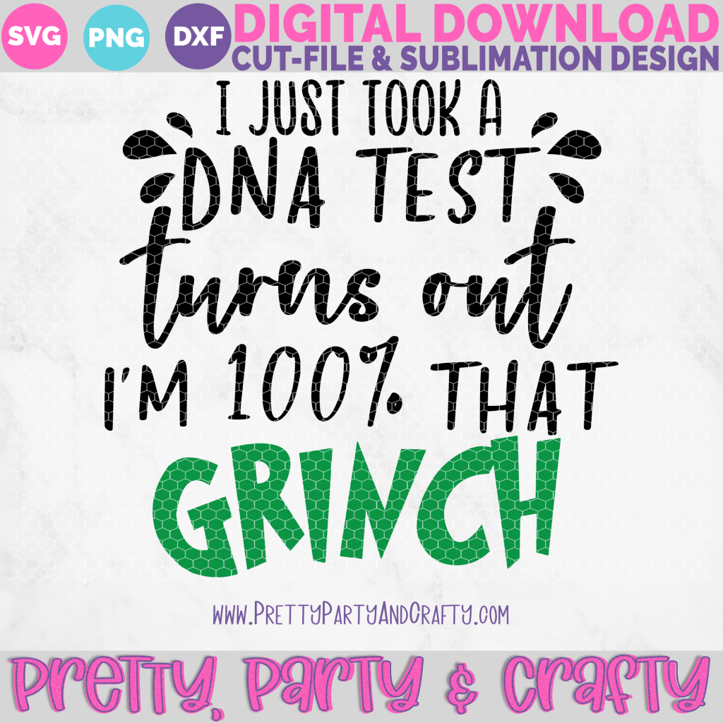 Grab this Christmas Grinch SVG-I just took a DNA test turns out I'm 100% that GRINCH SVG