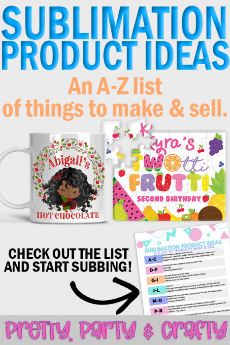A-Z What can you make with sublimation. An A-Z list of everything you can sublimate