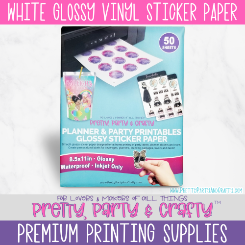 Glossy Waterproof Vinyl Sticker Paper