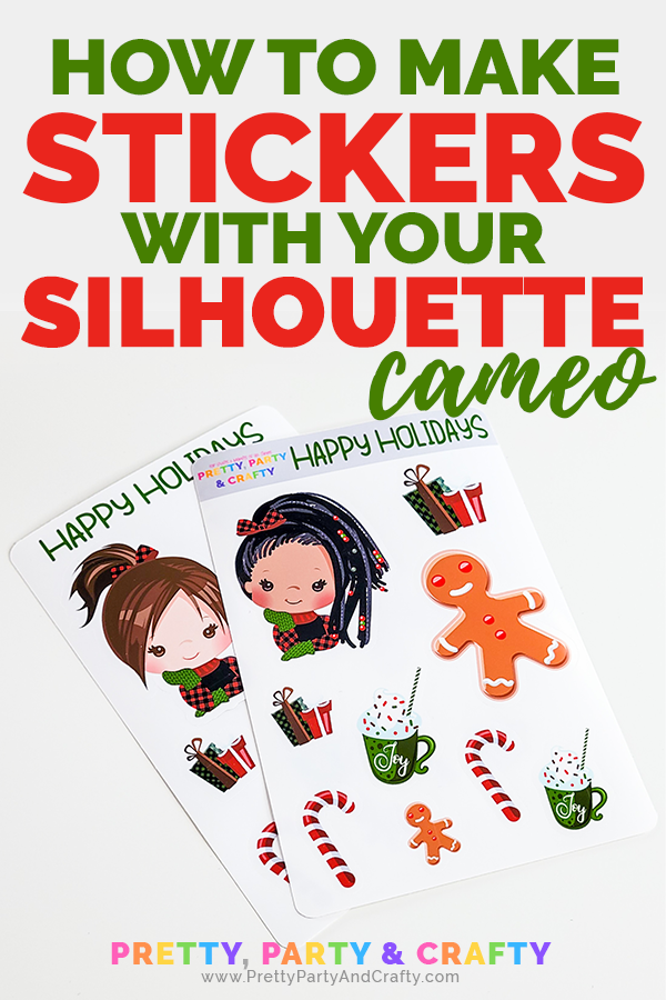 Learn how to make stickers with Silhouette cameo from Pretty Party & Crafty
