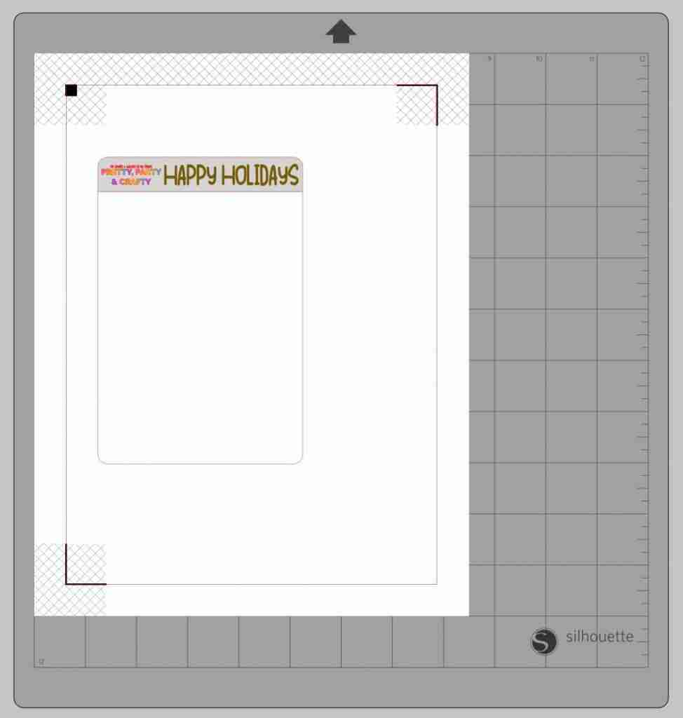 How to make print and cut sticker sheet