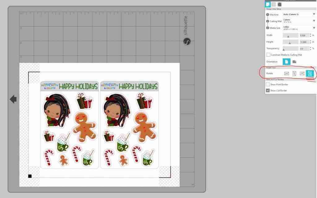 Christmas holiday sticker sheets